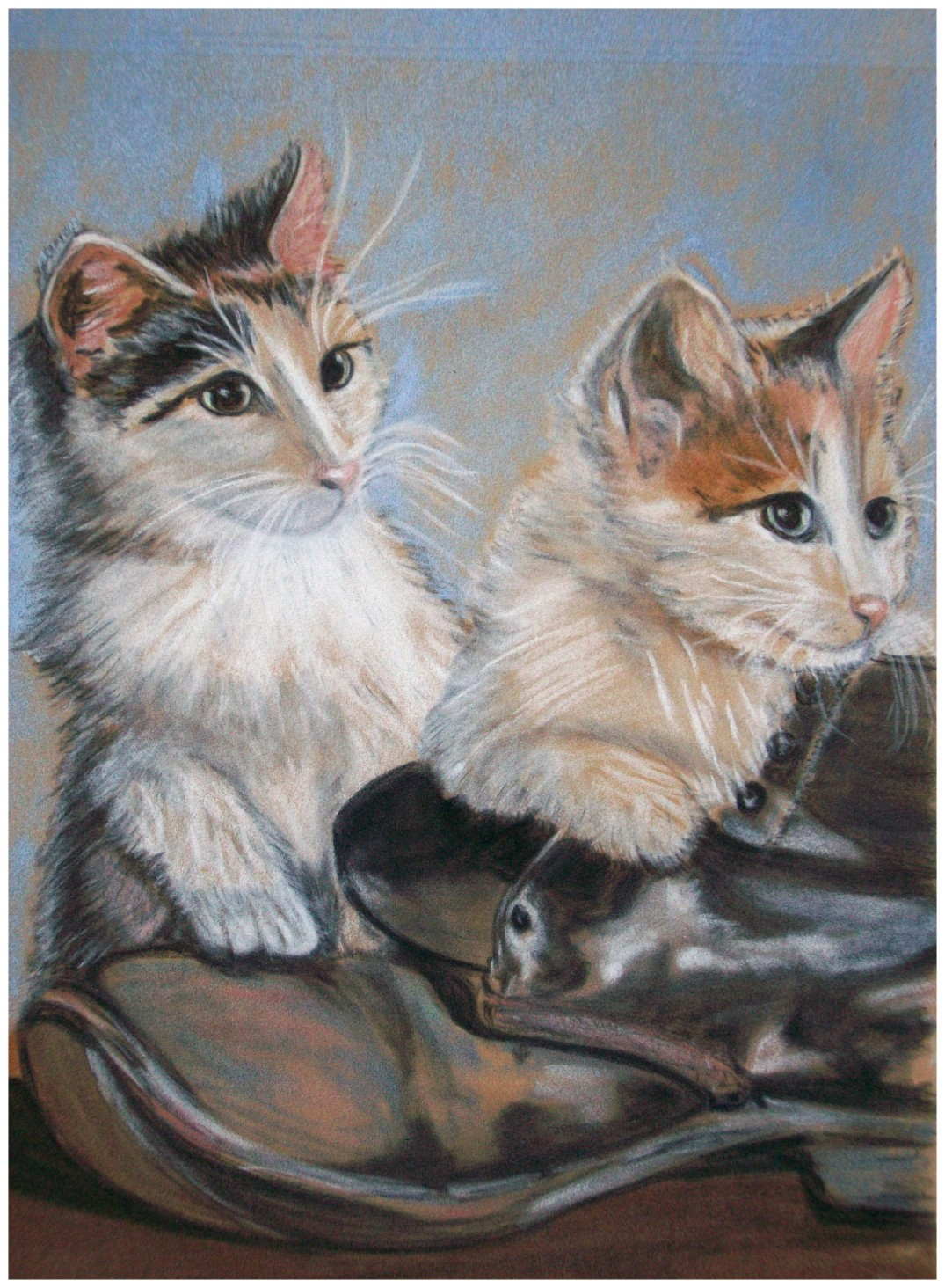 Playful Kittens Modified With Border