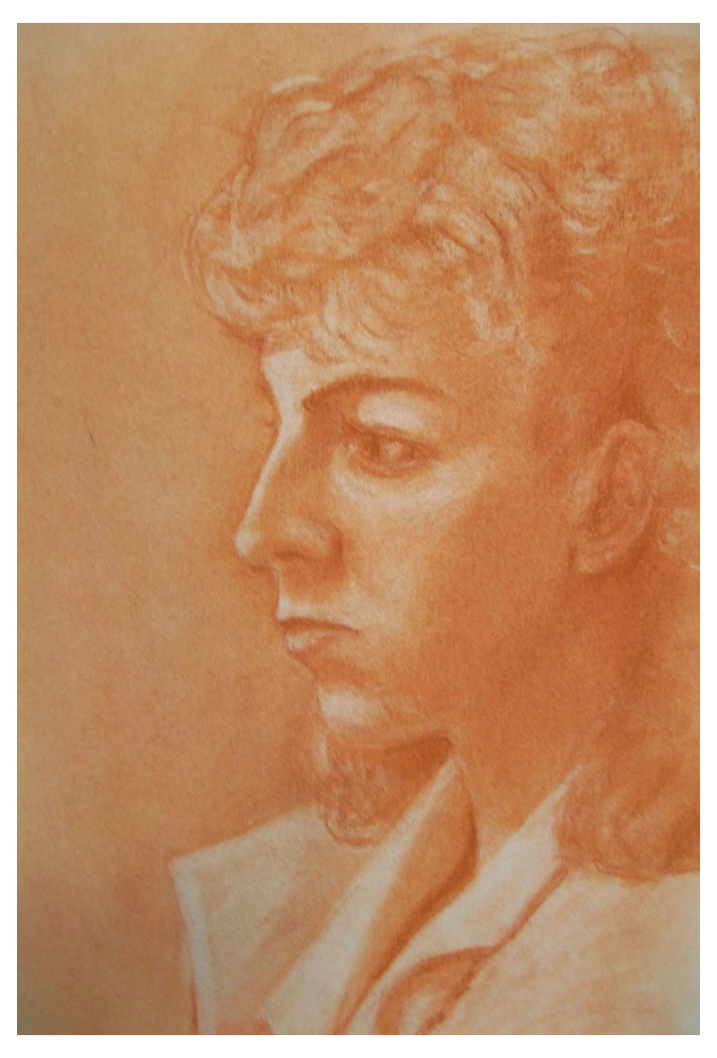 Woman In Sepia with Border